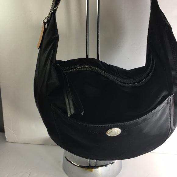 "b82a7f01c4 Coach Handbags - ❤ ""AS IS"" Coach Hampton Black Satin Hobo Handbag"
